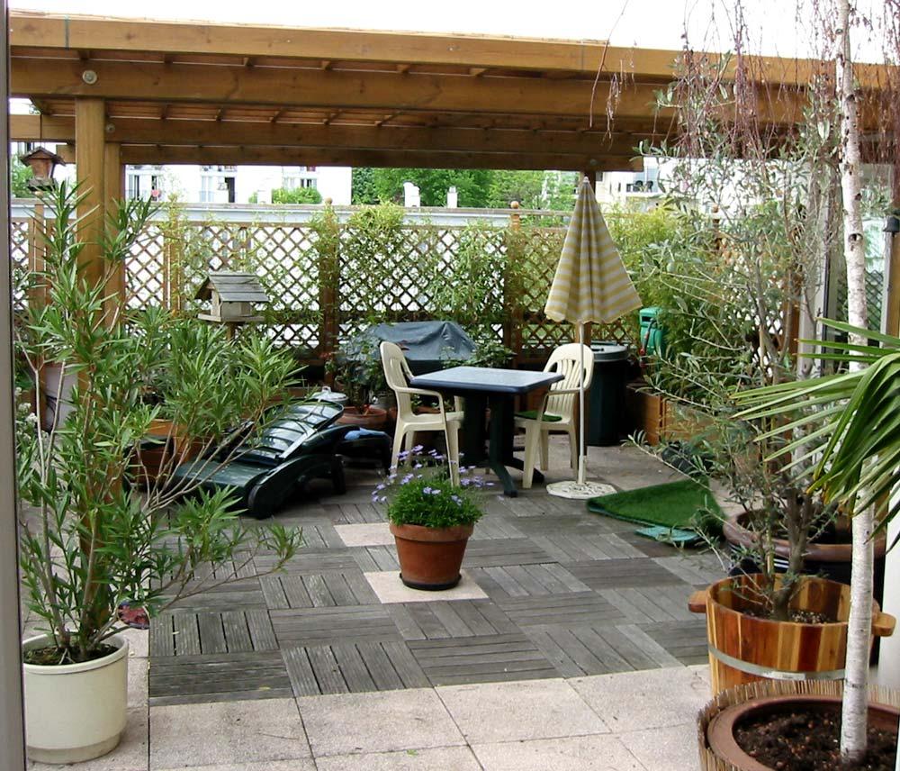Tour De Piscine Gazon Synthetique belle-paquerette, page de la photo de terrasse avant pose du